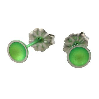 Ti2 Titanium Dome kleine Stud Earrings Stud Earrings - vers groen