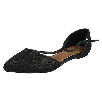 Ladies Savannah Shoes F80070 Black Size UK 5