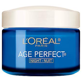 L ' Oreal París edad perfecta noche crema, lucha contra la flacidez + anti edad hidratante punto 2.5 oz