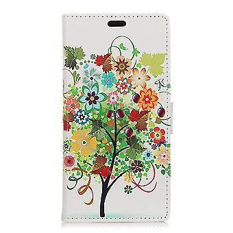 Sony Xperia L2 Geldbörse Beutel-Blume Baum mit Früchten