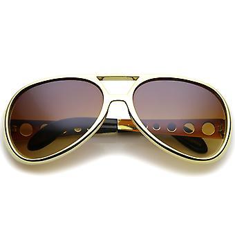 Большие Элвиса король рок & ролл авиатор солнцезащитные очки 63 мм