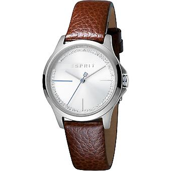 ESPRIT Ladies Watch Watches Joy Silver Brown Analogue Quartz