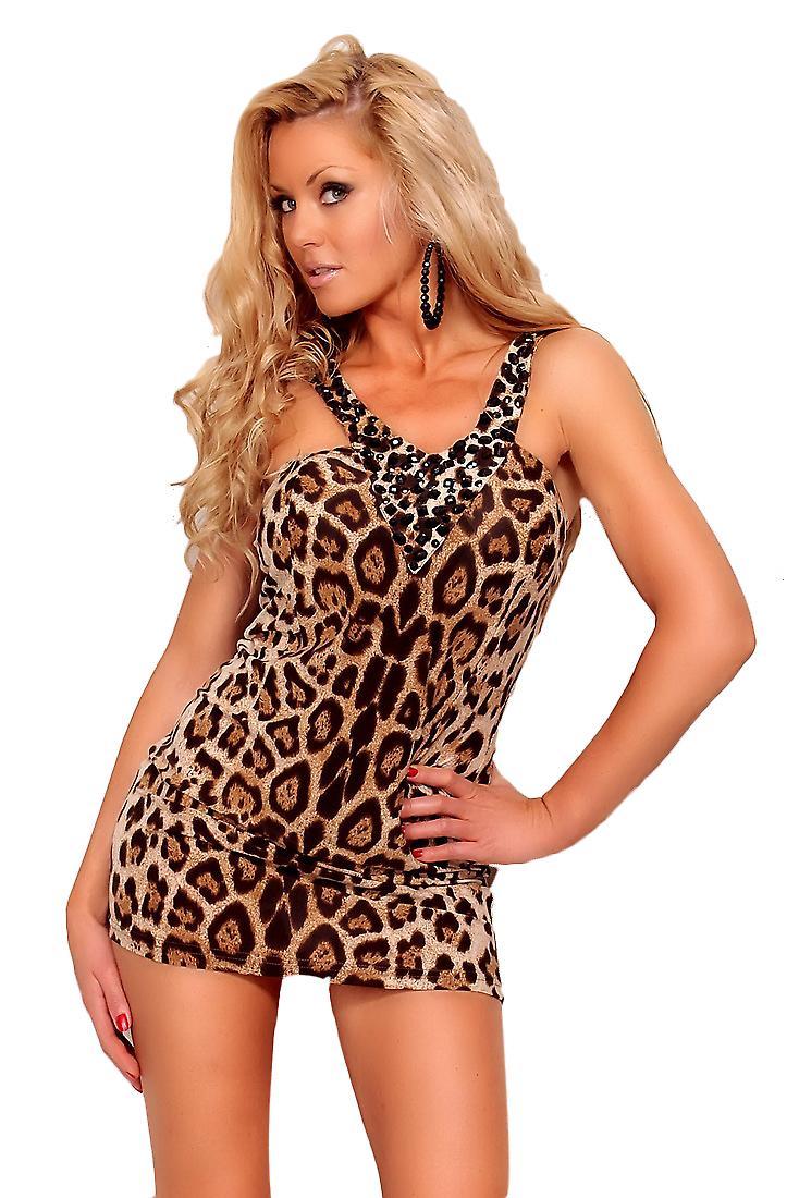 Waooh - mode - jurk korte leopard