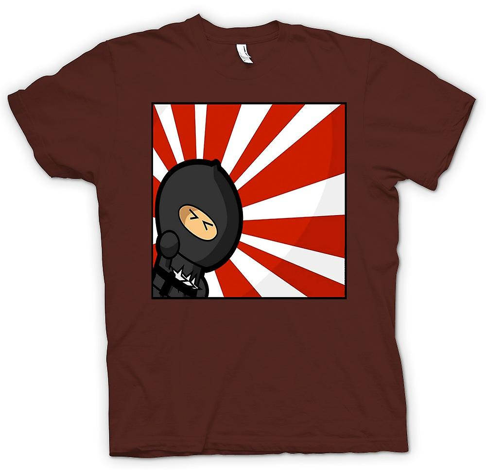 Herr T-shirt - Ninja - Pop Art - rolig