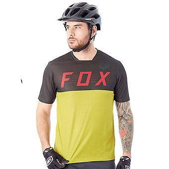 Fox Black-Yellow 2017 Indicator Short Sleeved MTB Jersey