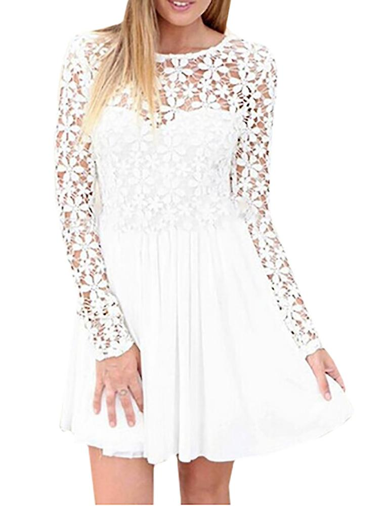 Waooh - Short dress with sleeves and neckline openwork Gair