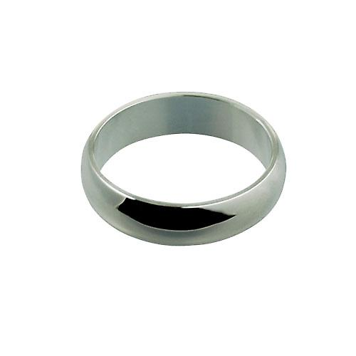 Silver 6mm plain D shaped Wedding Ring