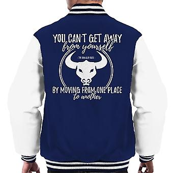 The Sun Also Rises You Cant Get Away From Yourself Quote Men's Varsity Jacket
