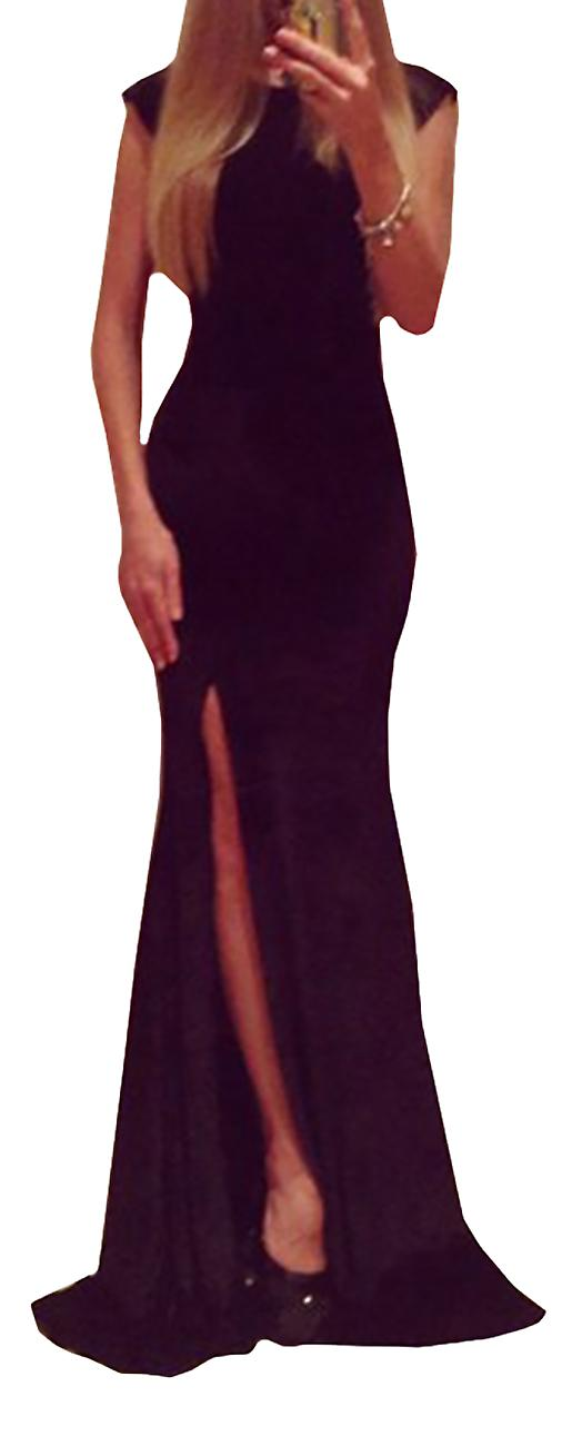 Waooh - Split Long Evening Dress Wing