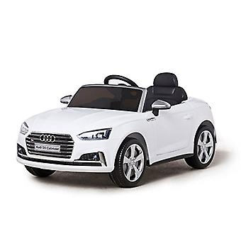 Audi Electric Ride On Car - Licensed S5 Ride On Car For Kids - 12v - White