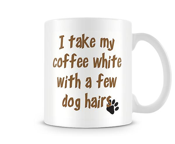 Coffee White Few Dog Hair Mug