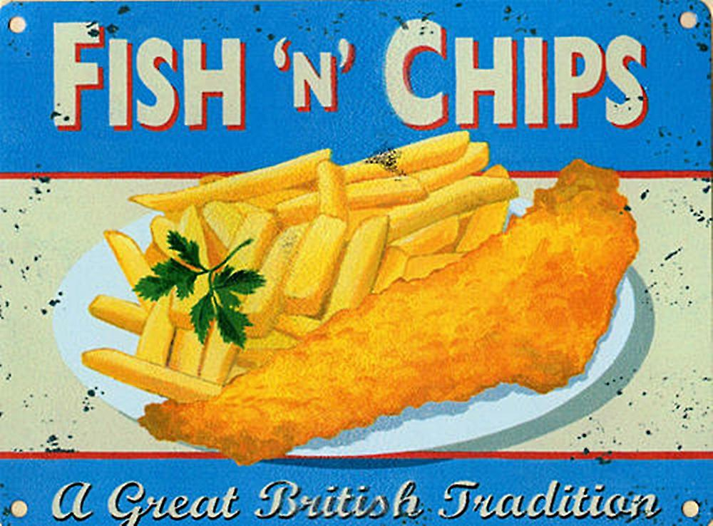 Fish N Chips metal sign  (og 4030)