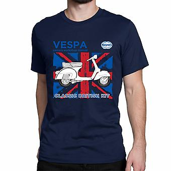 Official Haynes Manual Unisex T-shirt VESPA Classic british Kit Owners Workshop Manuals