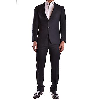 Burberry Black Wool Suit