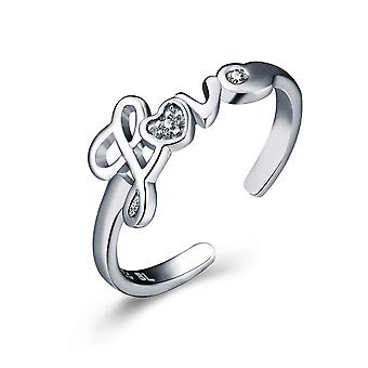 Sterling Silver Love Letters Knuckle Toe Ring
