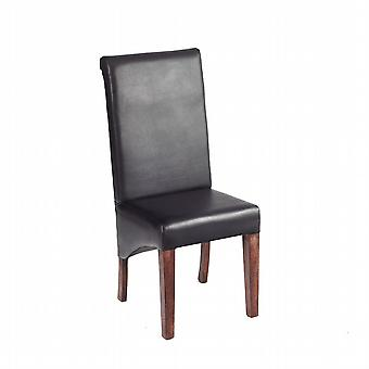 Phoenix Dark Mango Leather Dining Chair  - A Pair