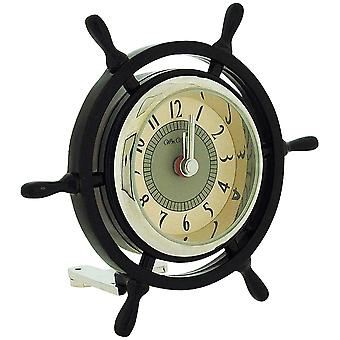 Miniaturkapitän Ships Wheel Novelty Ornamental Quartz Collectors Clock 9403