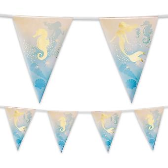 4 Metre Foil Bunting Mermaid Party Decoration