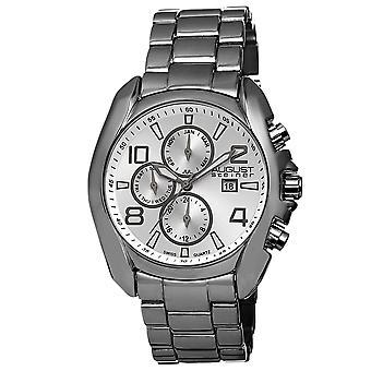 August Steiner Men's AS8109 Swiss Quartz Month Day Date GMT Bracelet Watch AS8109BK