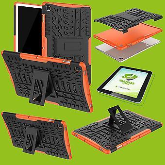 Pour Samsung Galaxy Tab S5e 10,5 T720F hybride couverture extérieure orange sac + 0,3 H9 verre de protection