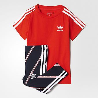Adidas Originals Infant Girls Leggings & T-Shirt Set