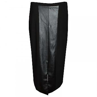 Frank Lyman Faux Leather Long Straight Skirt