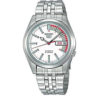 Seiko 5 Automatic White Speedometer Dial Men's Watch SNK369K1