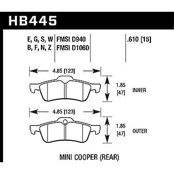 Hawk performance HB445N. 610 pk plus