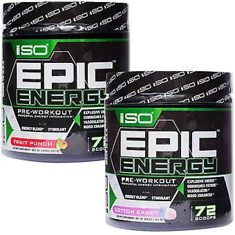 Isolator Fitness Epic Energy Stimulant Pre-Workout Supplement - 72 Servings