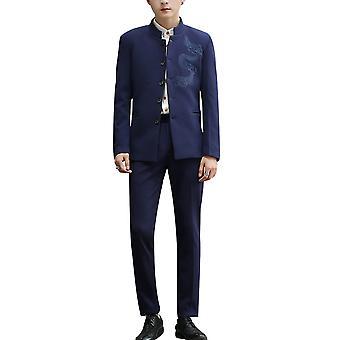 Allthemen Hommes Tuxedo 3-Pieces Cotton Slim Fit Business Casual Blazer-Pantalon-Vest