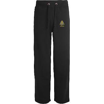 East Surrey Regiment Veteran - Licensed British Army Embroidered Open Hem Sweatpants / Jogging Bottoms