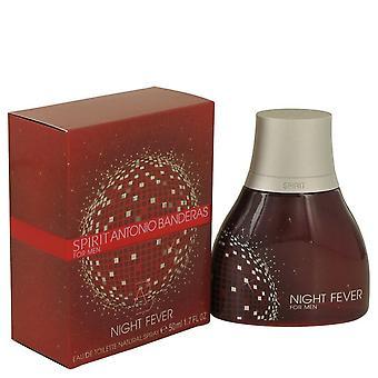 Spirit Night Fever Eau De Toilette Spray By Antonio Banderas 50 ml