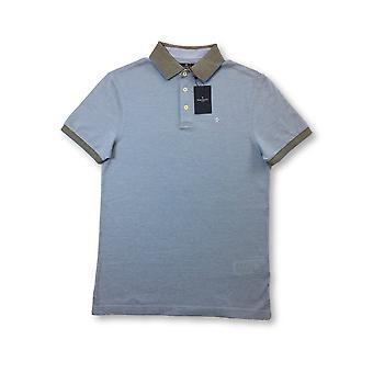 Hackett oxford pique lim fit polo in light blue