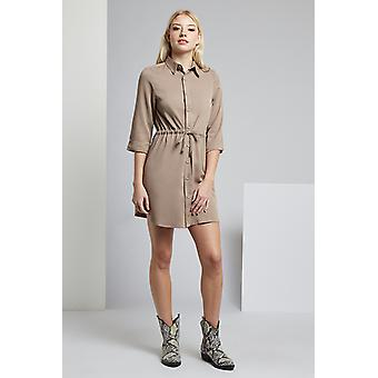 Louche Taner Utility Shirt Dress Grey