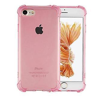 Bagdæksel stødsikker TPU 1,5 mm Apple iPhone 8 plus/7 plus transparent pink