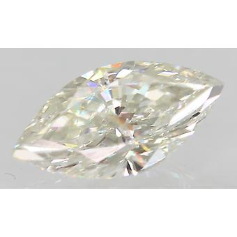 Certifié 0.77 Carat G VVS2 Marquise Enhanced Natural Loose Diamond 9x4.61mm 2VG