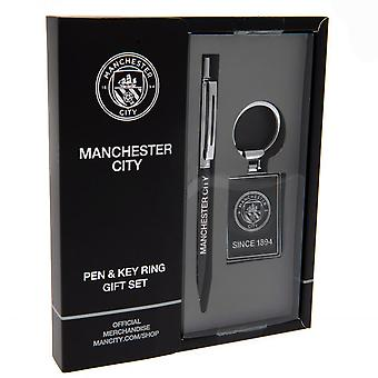 Manchester City FC Pen and Keyring Set