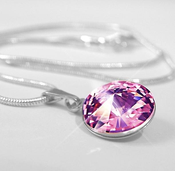 Pendant necklace light purple PMB1.3