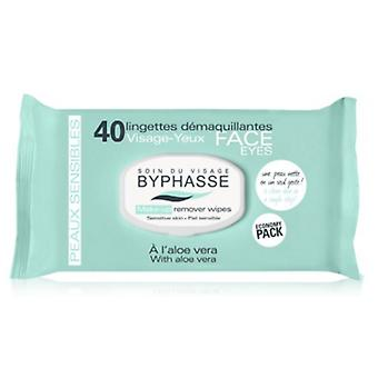 Byphasse 40Uds wipes Aloe Vera Sensitive Skin Cleansing