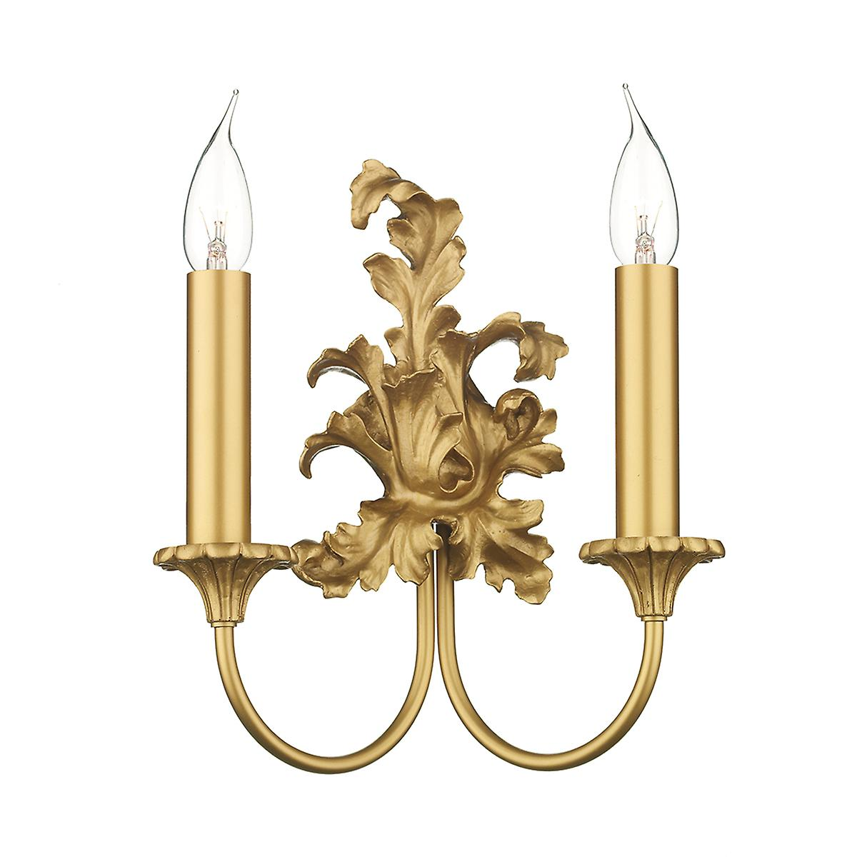 David Hunt SC22 Ormolu Traditional Double Wall Bracket In Gold