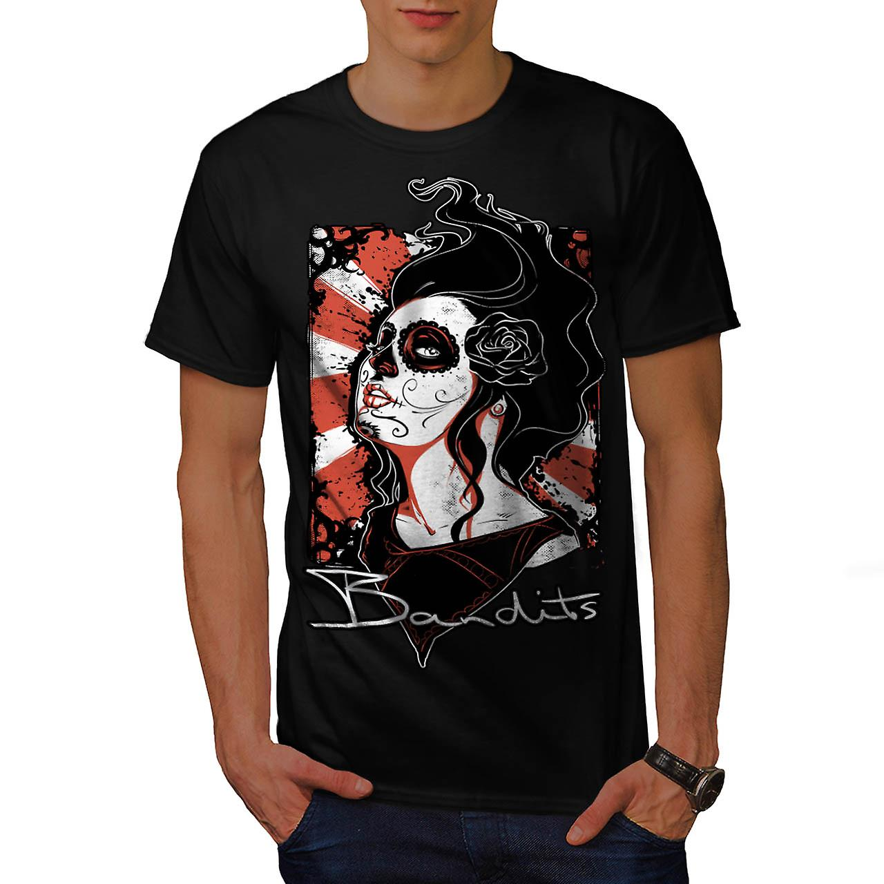 Bandits Cabaret Love Goth Queen Men Black T-shirt | Wellcoda