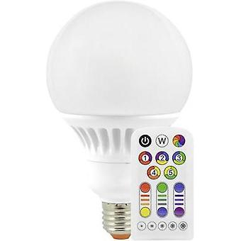 LED E27 Globe 13 W = 60 W RGBW (Ø x L) 100 mm x 167 mm EEC: A Müller Licht colour-changing, dimmable, incl. remote cont