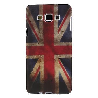 UK vlag TPU rubber cover voor de Samsung Galaxy A7