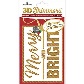 Paper House Led Shimmers Embellishment-Merry & Bright EMB0018E