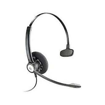 Phone headset QDCs (Quick Disconnect) Corded Plantronics On-ear Black