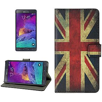 Cell phone cover case voor mobiele Samsung Galaxy touch 4 retro vlag Engeland