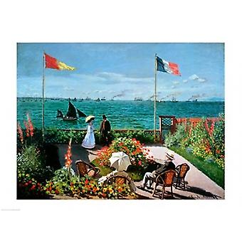 The Terrace at Sainte-Adresse 1867 Poster Print by Claude Monet (24 x 18)