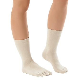 Knitido Naturals organic cotton | calf-length toe socks
