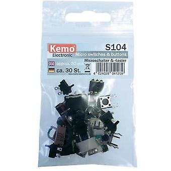 Microswitch set Kemo S104 momentary 30 Parts