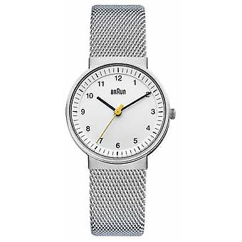 Braun Ladies Silver White BN0031WHSLMHL Watch